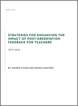 Strategies for Enhancing the Impact of Post-Observation Feedback for Teachers