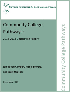 Community College Pathways: 2012-2013 Descriptive Report
