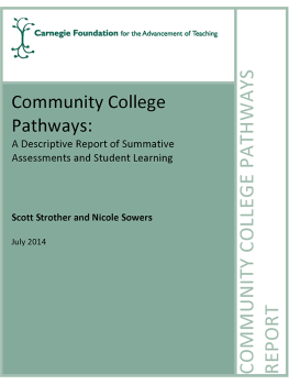 Community College Pathways: Summative Assessments and Student Learning