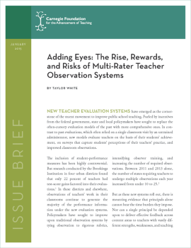 Adding Eyes: The Rise, Rewards, and Risks of Multi-Rater Teacher Observation Systems