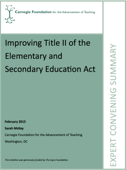 Improving Title II of the Elementary and Secondary Education Act