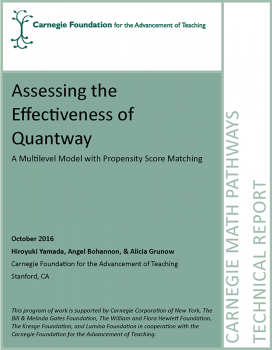 Assessing the Effectiveness of Quantway: A Multilevel Model with Propensity Score Matching