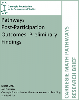 Pathways Post-Participation Outcomes: Preliminary Findings