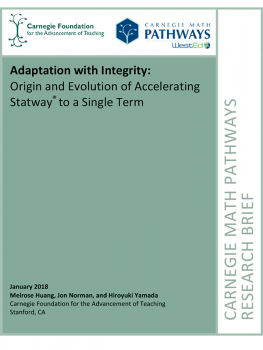 Adaptation with Integrity: Origin and Evolution of Accelerating Statway® to a Single Term
