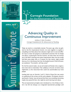 Advancing Quality in Continuous Improvement
