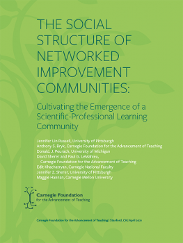 The Social Structure of Networked Improvement Communities: Cultivating the Emergence of a Scientific-Professional Learning Community